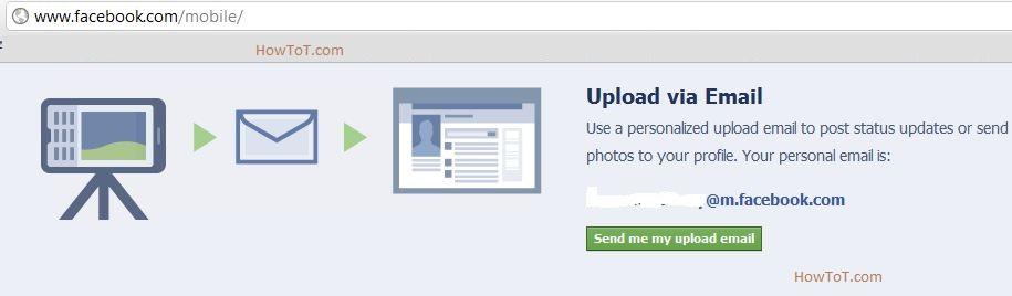 Update Facebook Status via Email