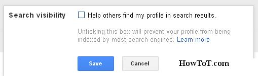 How To Hide Google+ Profile