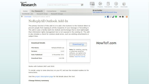 How to prevent reply all in Outlook emails