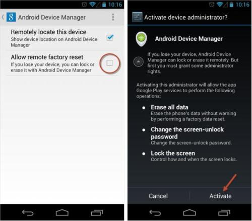 Use Android Device Manager to retrieve your  lost Android device
