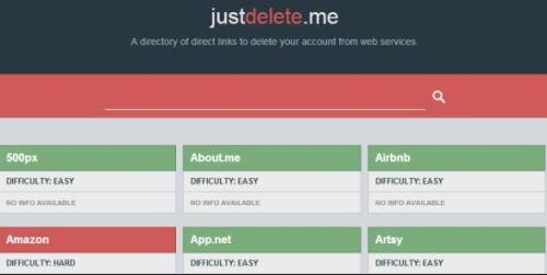 How to use JustDelete.Me to remove unwanted accounts