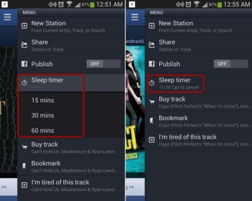 How to set sleeper time on Pandora and save a lot