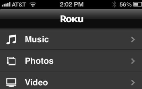 Stream iOS music, photos, and videos using your Roku box