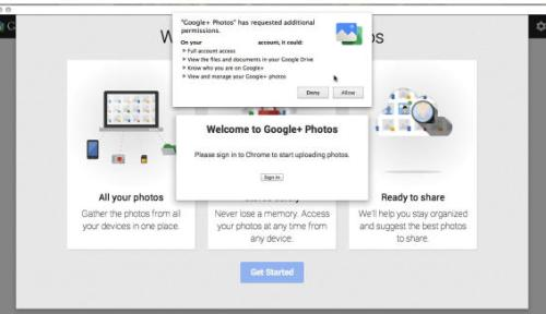 How to enable Google plus Photos app in Chrome