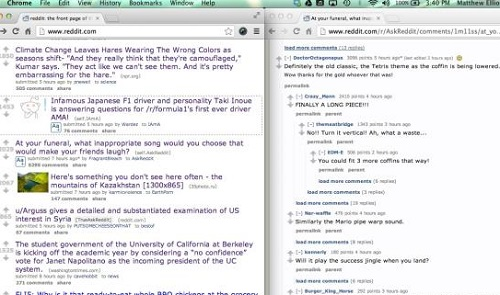 How to make use of Niftysplit for 2 windows in Chrome
