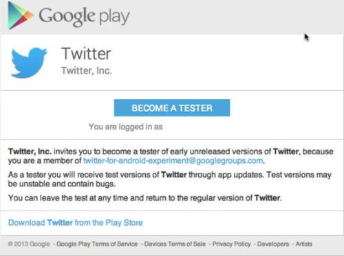 How to sign up to beta test the new Twitter for Android