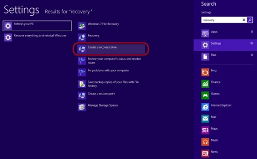 How to recover your Windows 8 using usb recovery drive