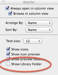 How to enable user library in Mavericks