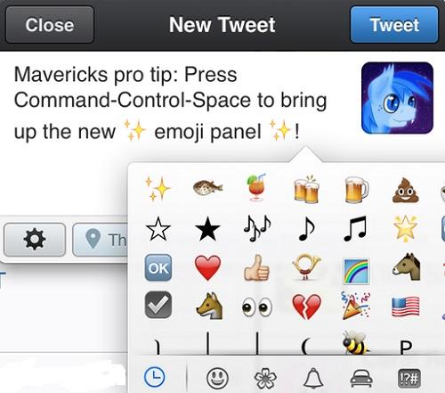 Tips to use emoji in OS X Mavericks